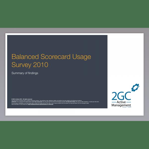 2010 Balanced Scorecard Usage Survey image