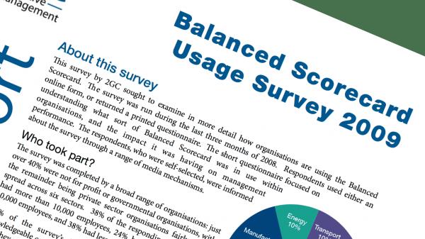 2009 Balanced Scorecard Usage Survey image